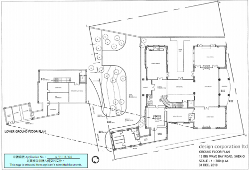 Ground Floor layout plan for 13 Big Wave Bay Road